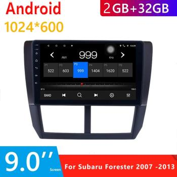 9 Inch 2din Android 9.1 Car Radio Android MP5 Player for 2007-2013 Subaru Forester GPS Audio Multimedia Player in Dash Double image