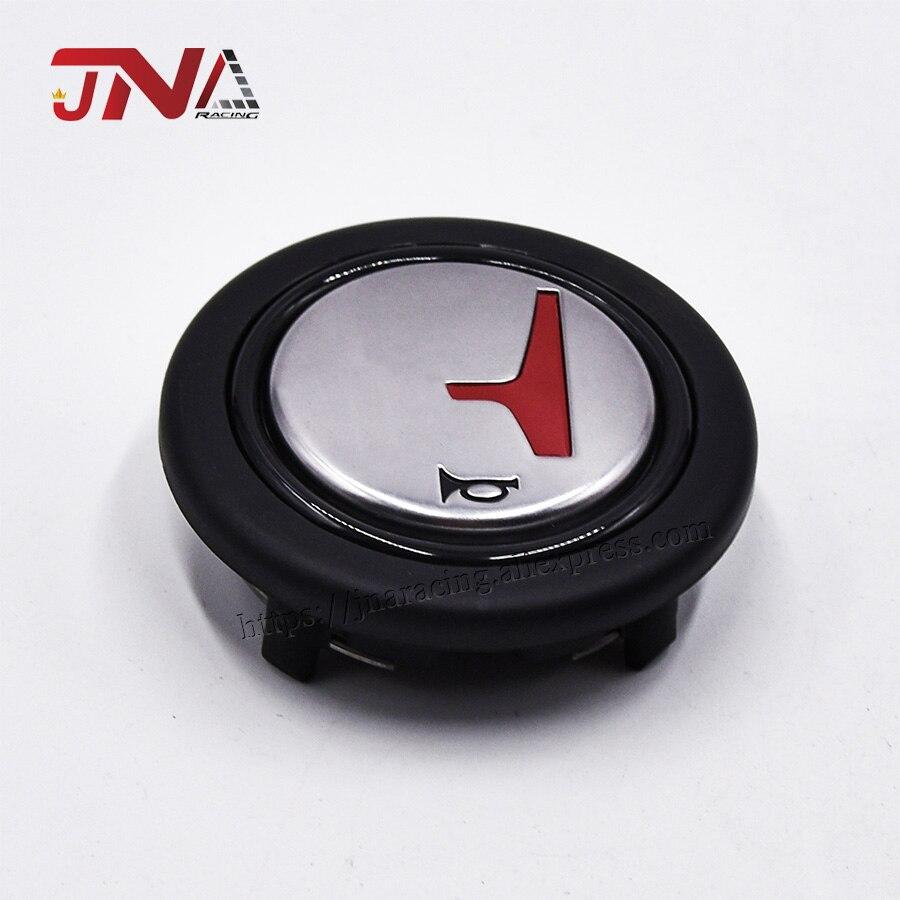Volante automático com botão vermelho/preto do chifre de h para acessórios do carro
