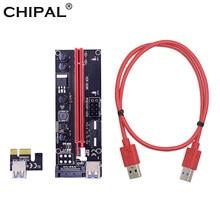 CHIPAL VER009 USB 3.0 PCI-E Riser VER 009S Espresso 1X 4x 8x 16x Extender Riser Card Adapter SATA 15pin A 6 pin Cavo di Alimentazione