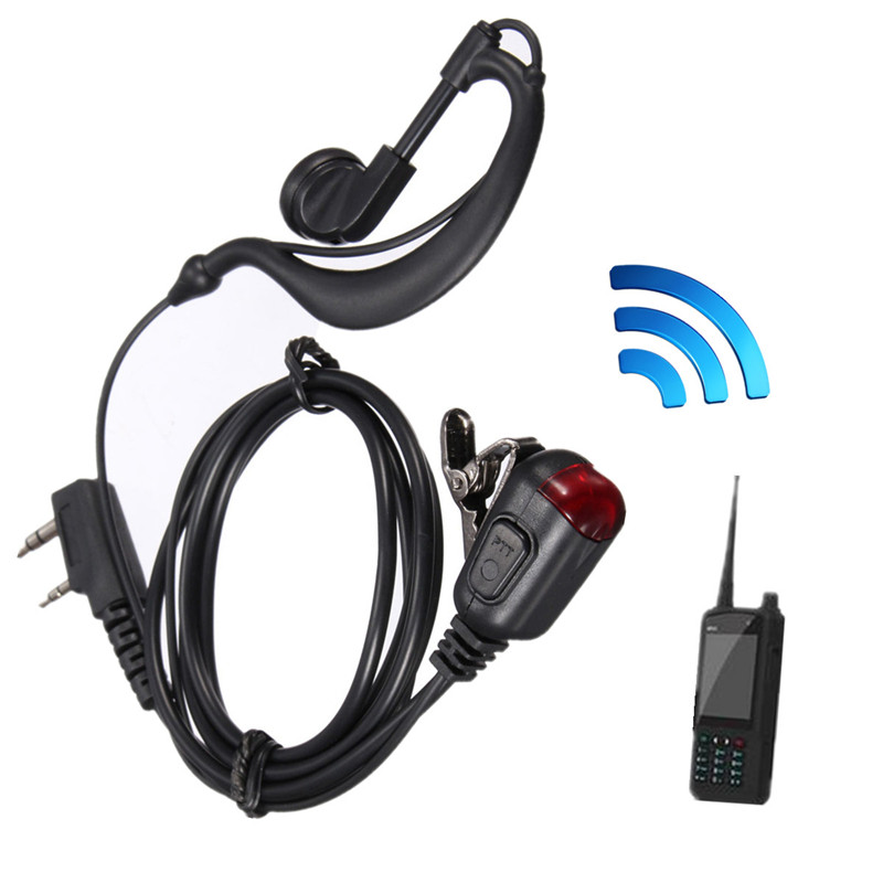 <font><b>2</b></font> <font><b>Pins</b></font> Headsets <font><b>Headphones</b></font> Earphones Earpieces Hand Held Radio Security Adapter <font><b>Cable</b></font> for Two Way Radio Walkie Talkies image
