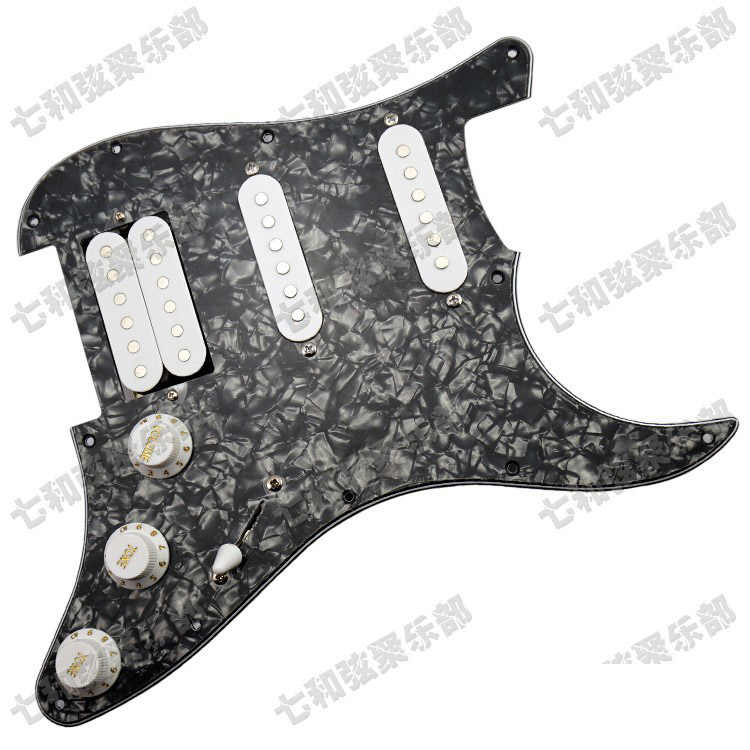 Черная жемчужная загруженная гитара, предварительно загруженная Накладка для защиты от царапин для электрогитары