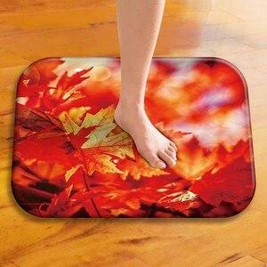 Image 4 - Tapis de sol épais en velours, tapis de sol décoratif pour hôtel, tapis de porte de cuisine, tapis de salle de bain.