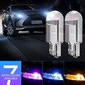 10 шт. T10 W5W 194 12V светодиодный лампы цвет белый, желтый, красный, светло-голубой зеленый розовый авто лампа для салона автомобиля Купол боковой ...