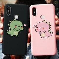 Dinosaur crocodile Funny Couple Case For Coque Xiaomi Redmi Note 8 8T 9 9s 7 K30 K20 6 5 Pro Max S2 6A 7A 8A TPU Phone Cover New