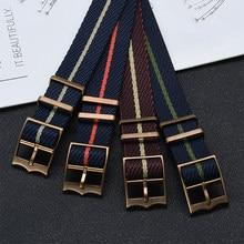 Najwyższej jakości paski wojskowe Zulu pasek w barwach Nato nylonowe paski do zegarków do paska zegarka Tudor 20mm 22mm ruchomy pierścień bransoletka wojskowa