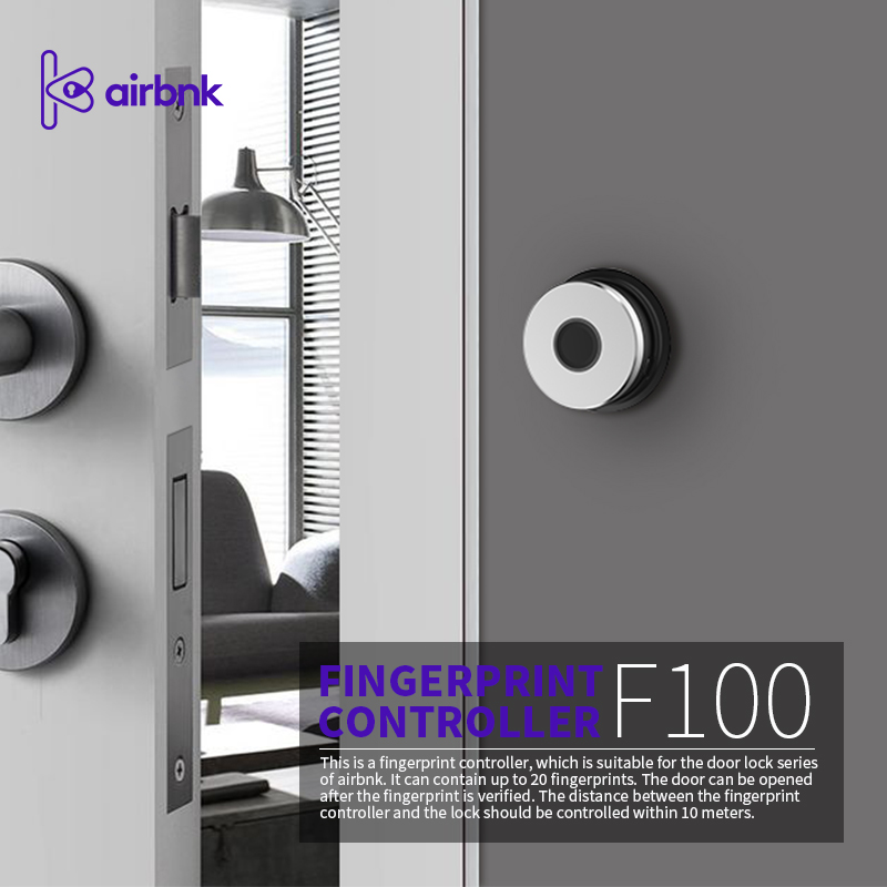 Airbnk F100 Fingprint Recognition Device Door Access Control System For M500 M300 Smart Lock Fingerprint Device