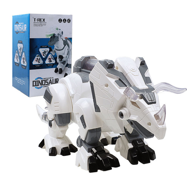 Electric Walking Dinosaur Robot With Light Sound Mechanical Dinosaurs Model Dino Toy For Kids Children Gift