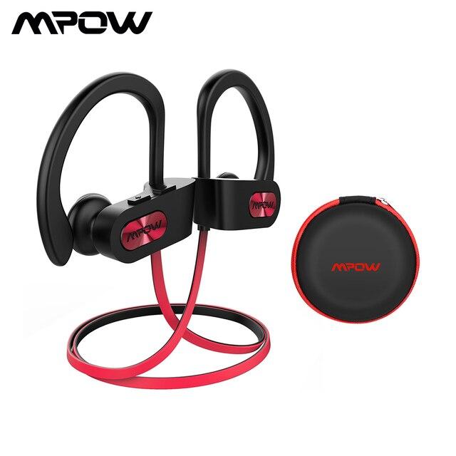 Mpow لهب 088A سماعة رأس مزودة بتقنية البلوتوث IPX7 مقاوم للماء الرياضة تشغيل سماعات رأس لاسلكية سماعات رياضية سماعات مع هيئة التصنيع العسكري للهاتف