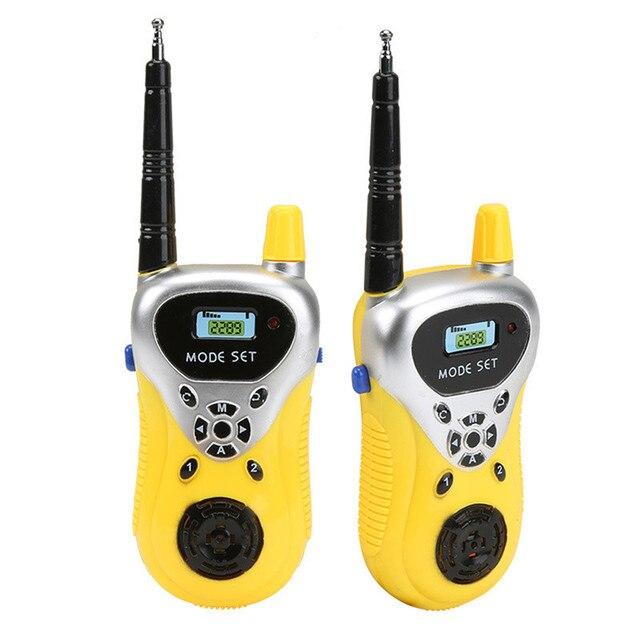 1 Pair 3-5km Range Two Way Walkie Talkies Radio Interphone Toys for Children Kids Handheld Transceiver Outdoor  Camping Gifts