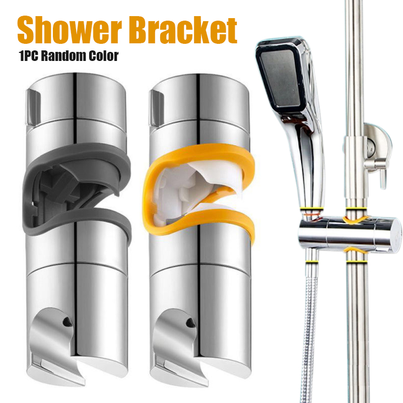 Chrome Plated Shower Bracket Adjustable 22-25mm Slid Bar Shower Head Holder Screw Wall Mount Bathroom Rail Pipes Replacements