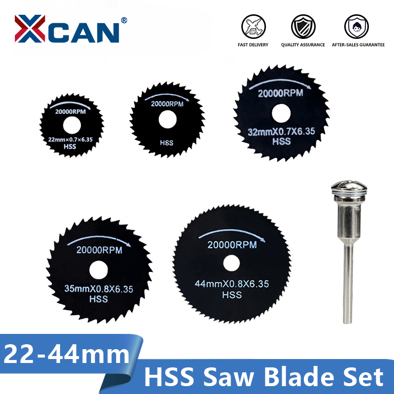 XCAN HSS Saw Blade 1 Set Nitride Coated Mini Circular Saw Blade For Wood/Metal Rotary Tools Cutting Di