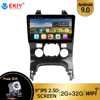 EKIY 9 IPS Car Radio Stereo Multimedia Video Player For Peugeot 3008 2011 2012 2013-2016 Android 9.0 Quad Core With Canbus Wifi image