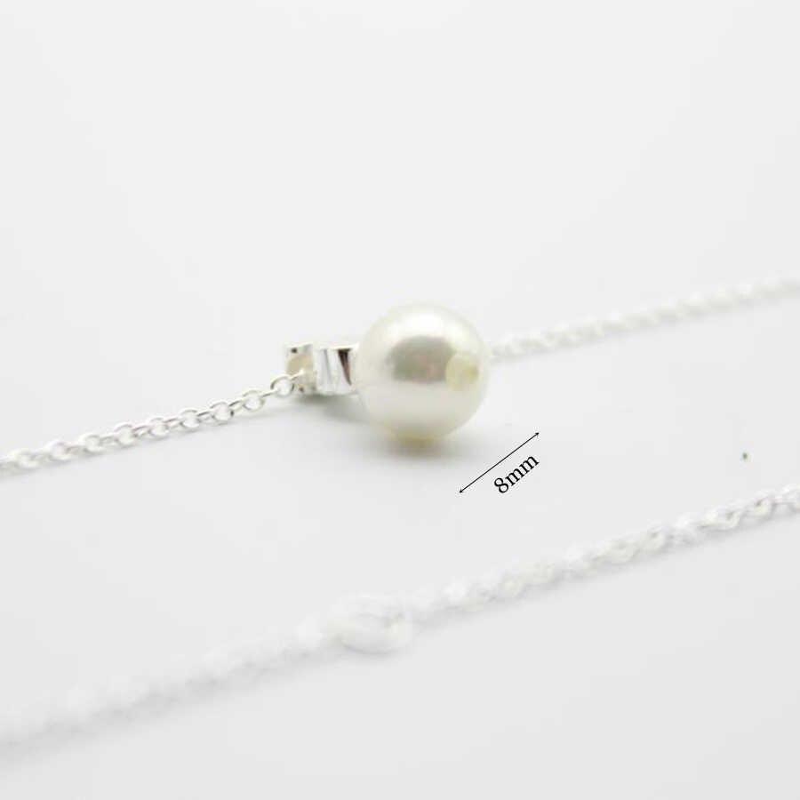 Collar con colgante de plata de ley 925, cadena para collares de joyas para mujeres de piedras naturales, collares de plata de ley 925