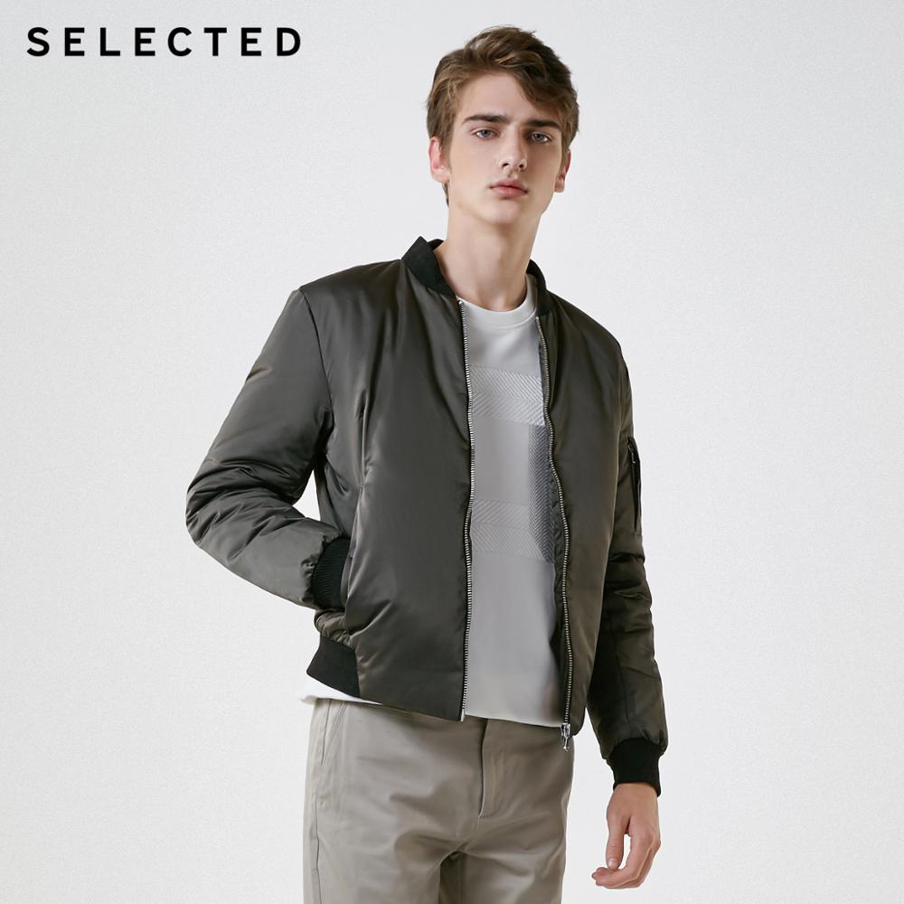 SELECTED New Duck Down Jacket Baseball Collar Outwear Bright Fashion Short Down Suit Coat S | 418412533