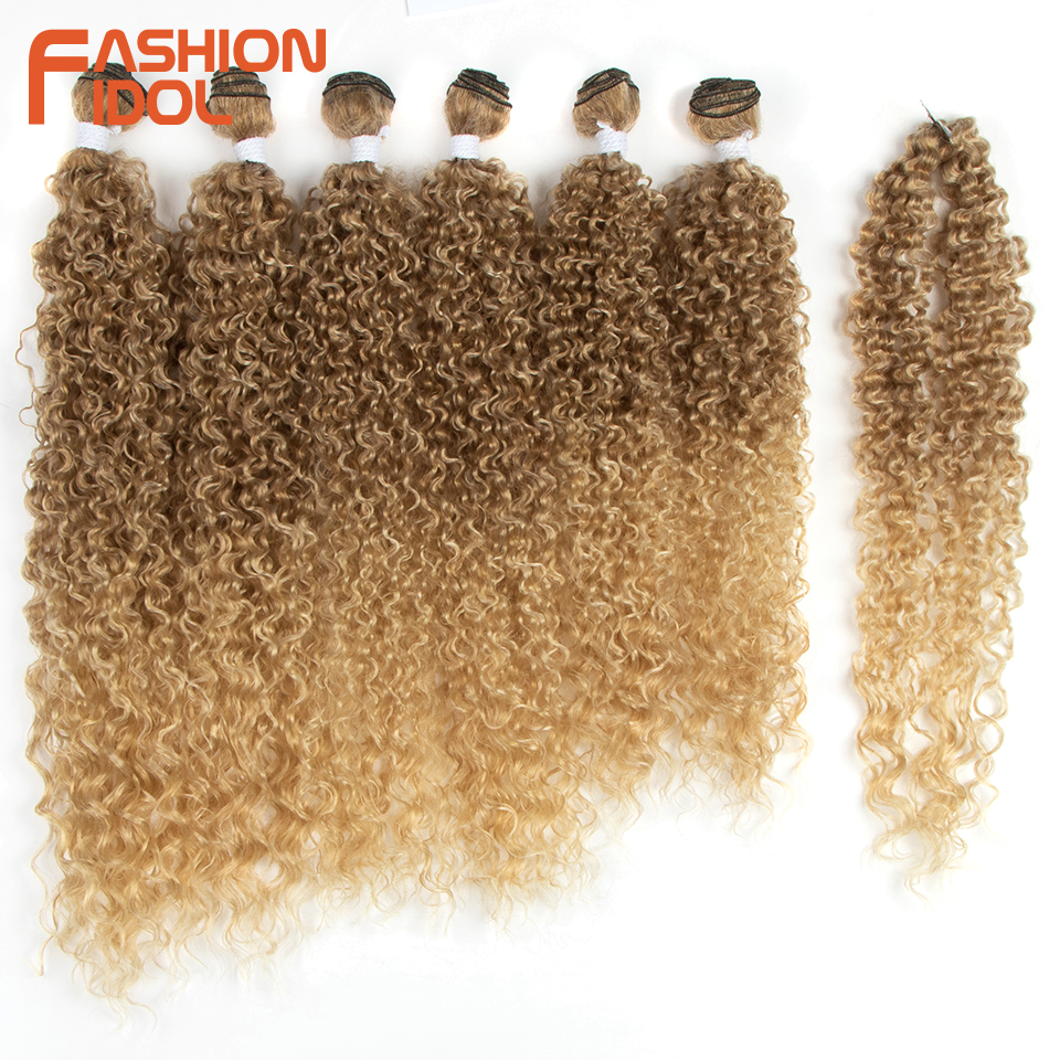 Модные кудрявые афро волосы IDOL, пряди 22 26 дюймов, Омбре, черные, коричневые, светлые синтетические волосы, пряди, вязанные крючком волосы для наращивания|Синтетическое плетение|   | АлиЭкспресс
