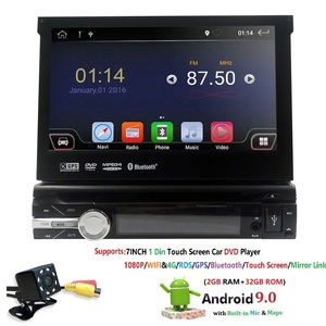 "Image 4 - 7""Universal 1din Android 9.0 QuadCore Car DVD player GPS Navigation 4GWifi BT autoRadio 2GB RAM 32GB ROM SWC RDS OBD2 DAB CD MAP"