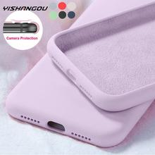New Original Liquid Silicone Soft Case For Samsung A51 A50 S10 Plus S8 S9 S20 FE S21