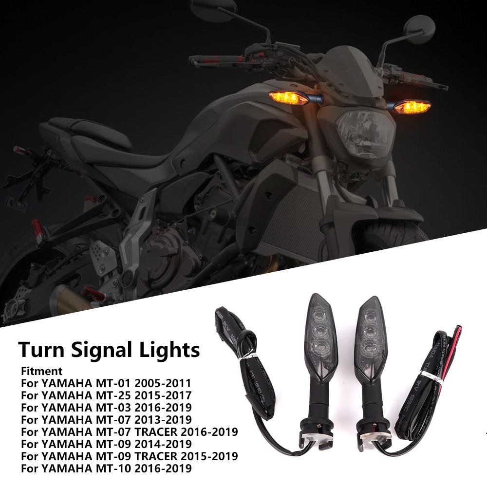 KEMiMOTO MT07 MT09 Turn Signal Lights LED For YAMAHA MT 07 MT 09 2014 - 2017 2018 2019 MT 10 Tracer Motorcycle Indicator Blinker