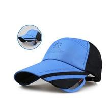 Hat Male Baseball Cap Summer Sunbonnet UV Sun Cap Casual Outdoor Sport Eye Protect Bike Cap Retractable Sun Visor Hat мужская бейсболка gwcaps oem chunglim sunbonnet baseball hat