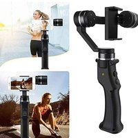 C1 Hand holder anti shake shooting motion camera stabilizer Mobile phone selfie stabilizer portable triaxial camera
