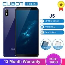 Cubot J5 смартфон с 5,5 дюймовым дисплеем, четырёхъядерным процессором MT6580, ОЗУ 2 Гб, ПЗУ 16 ГБ, 2800 мАч, 3G