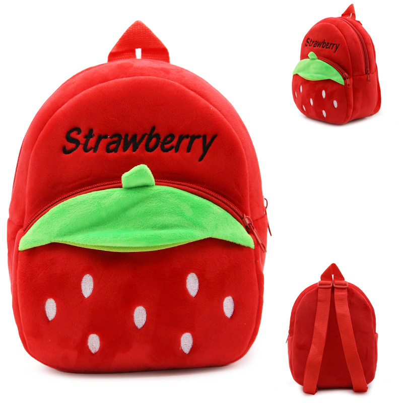 Animal Plush Backpack Baby Toy Minnie School Bag Kids Outdoor Travel Pack