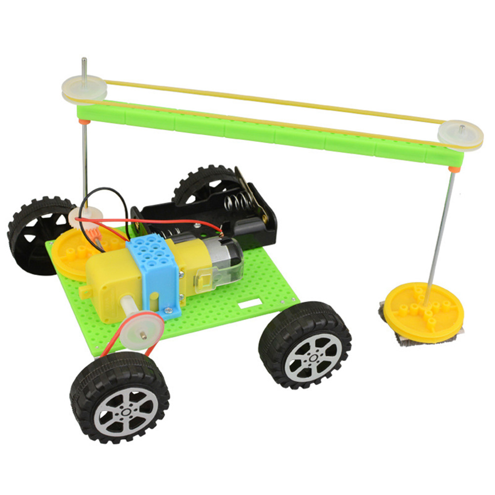 Experiment Electric Plastic Kids Gift Sweeping Robot Model Kits Physics Experiment Educational Toy DIY Novelty