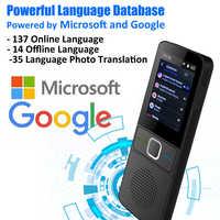 CTVMAN 137 traductor de idioma inteligente sin conexión en tiempo Real Smart Voice Translator portátil traduttor fuera de línea