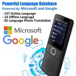 Image 1 - CTVMAN traductor de idiomas 137, traductor inteligente sin conexión en tiempo Real, traductor de voz inteligente, portátil, sin conexión