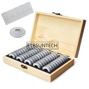 10 шт деревянные монетница кольцо с украшением из монет ящик для хранения 20 Вт, 30 Вт, 50/100 Капсулы для монет конференц-связи Коллекционная памя...