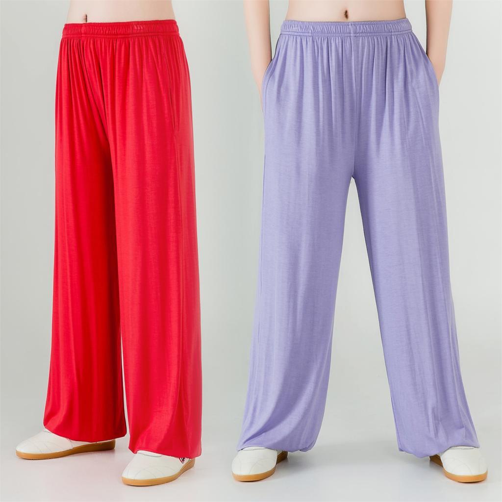 2019 Womens Yoga Pants Women Plus Dance Yoga Taichi Full Length Pants Smooth No Shrink Antistatic Pants Dropship Broadcloth