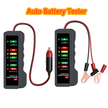 Mini 12V Car Battery Tester Digital Alternator Tester 6LED Lights Display Car Diagnostic Tool Auto Battery Tester Car Inspection image