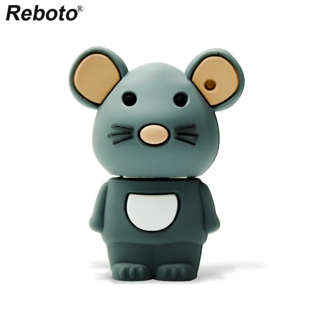 Retobo Pen Drive 4GB 8GB 16GB 64GB 32GB Cute Mouse USB Flash Drive Memory Stick Mini U Disk USB 2.0