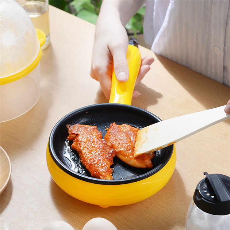 תכליתי ביתי מיני ביצת חביתת פנקייק חשמלי מטוגן מחבת סטייק שאינו מקל מבושל ביצים Steamer דוד 350W 220V
