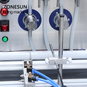 Image 2 - ZONESUN 4 Nozzles Magnetic Pump Automatic Desktop Liquid Water Drink Filler Conveyor Filling Machine Bottle Water Making Machine