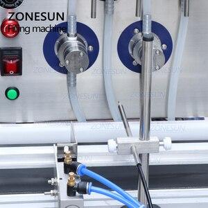 Image 2 - ZONESUN 4 buses pompe magnétique ordinateur de bureau automatique liquide eau boisson remplissage convoyeur Machine de remplissage bouteille deau faisant la Machine