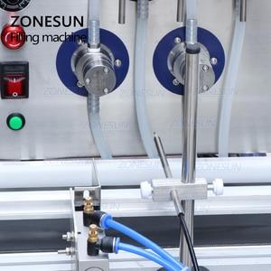 Image 2 - ZONESUN 4 חרירים מגנטי משאבת אוטומטי שולחן העבודה נוזל מים לשתות מילוי מסוע מכונת מילוי בקבוק מים ביצוע מכונת