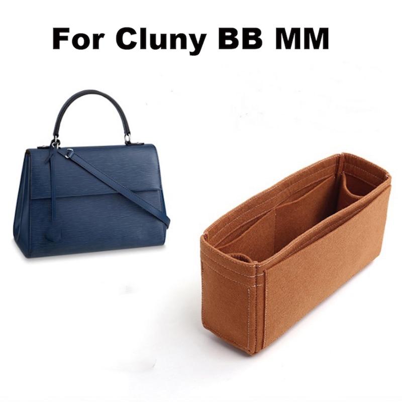 For Cluny BB MM Purse Organizer Insert Bags Organizer Makeup Handbag-3MM Felt Premium Felt (Handmade/20 Colors)