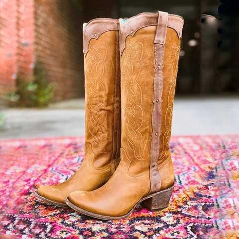 SFIT 2019 nowe gorące buty damskie jesienne zimowe damskie botki z niskim obcasem buty na zakolanówki kolana czarne długie buty zamszowe