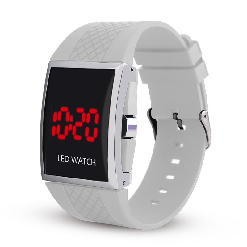 Casual Student Men Watch LED Electronic Digital Watch Unisex Silicone Strap Wrist Watches Man Women Couple's Watch Hour C055