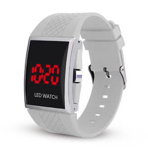 Digital Watch LED Hour Silicone Student Women Strap Man Casual C055 Couple