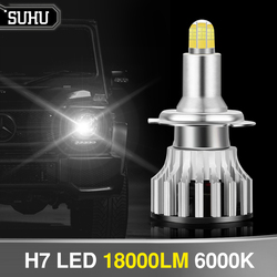 SUHU 2Pcs Auto LED H7 18000LM 6000K 8 Sides 110W 3D Led Headlights Bulb High Power 360 degree Lamp High Or Low Beam Lights Bulbs