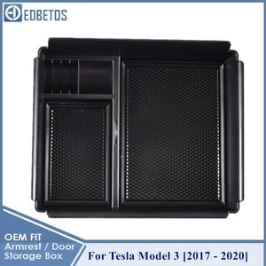 Image 5 - 車の中央コンソールテスラモデル3 2017 2018 2019 2020インテリアアクセサリー収納収納ボックス