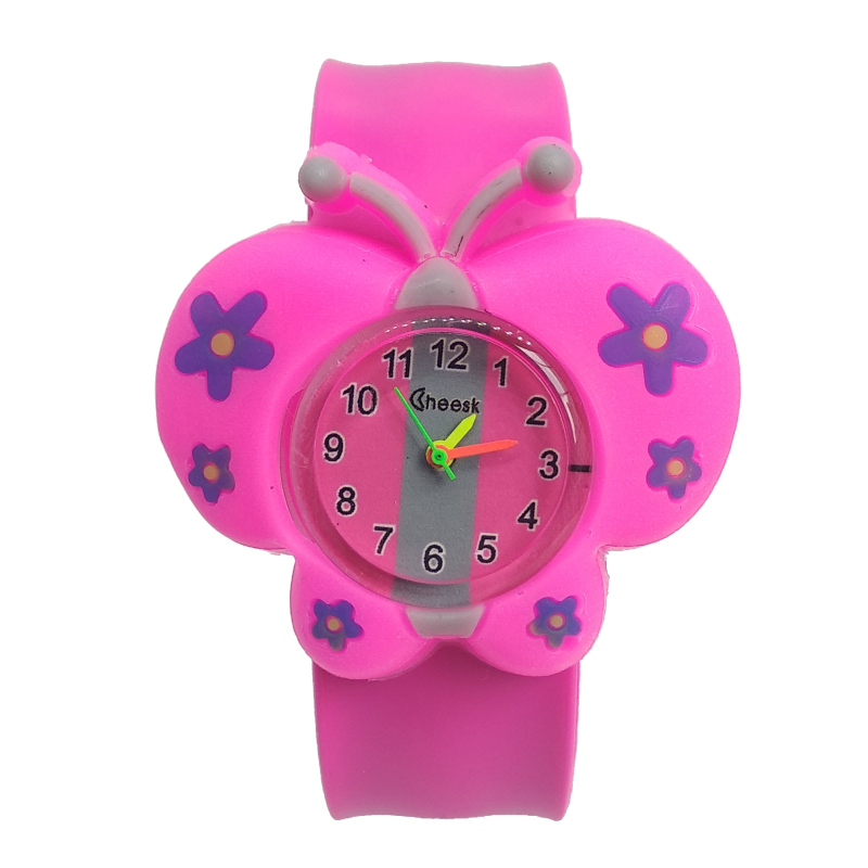 Hot Selling Girl Butterfly Watch Children Boy Students Clock Silicone Tape Patted Child Watches Kids Baby Christmas Gift