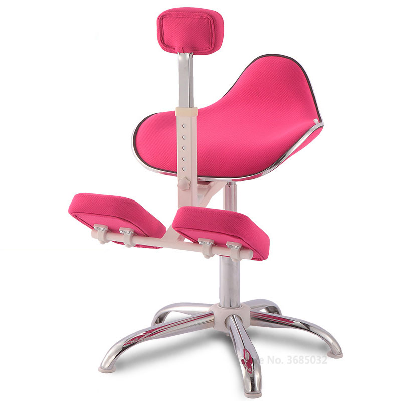 Kids Spine Correction Office Chair Ergonomic Metal Chairs Lift Anti-humpback Myopia Childen Adjustable Posture Chair 4 Gears