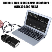 5.5mm 2 in 1 Computers Mobile Phones Handheld Endoscope Ear Spoon Borescope Practical Photos Real-Time Video