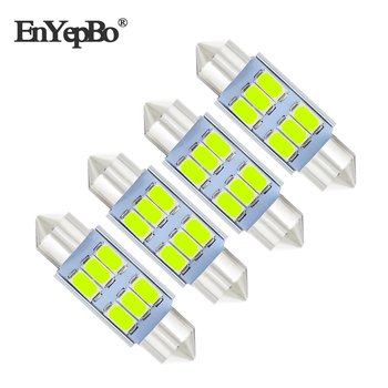 4Pcs C5W 39mm Canbus Error Free License Number Plate Light LED Bulbs For BMW 3 5 series E36 E46 E34 E39 E60 X5 E53(00-07) M5 image