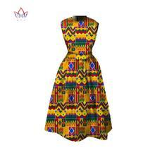 Robe africaine Dashiki mi-longue, nouvelle collection d'été, imprimé africain, Bazin Riche, tenue pour femmes, WY348