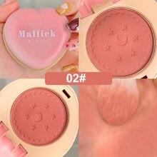 Blush mat pour le visage, 3 couleurs, maquillage, léger, Rouge naturel, joues, contour, pêche, éclaircissant, peau naturelle