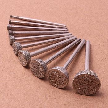 "8mm 5//16/"" Cylinder Diamond Grinding Head Rotary Bit Coated Stone Tools Lapidary"